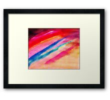 The Jewel handed to us, watercolor Framed Print