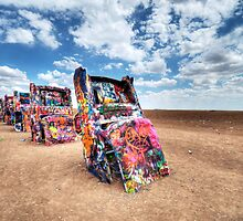 The Cadillac Ranch - Amarillo Texas by jphall