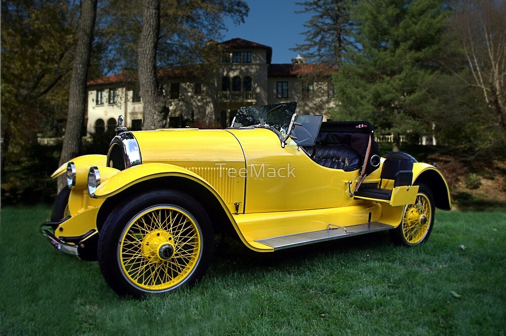 "1920 Kissell Silver Special Speedster ""Gold Bug"" by TeeMack"
