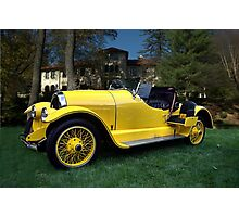 """1920 Kissell Silver Special Speedster """"Gold Bug"""" Photographic Print"""
