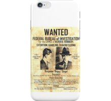 Bugsey Siegel Wanted iPhone Case/Skin