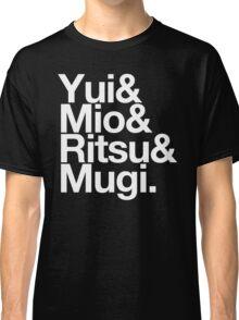 Ho-kago Tea Time - K-On goes Helvetica Classic T-Shirt