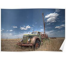 Old Pulling Rigg - Amarillo , Texas Poster