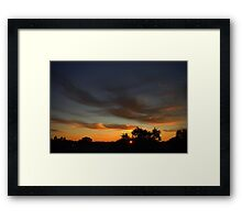 August 2011 almost Finished............ Framed Print