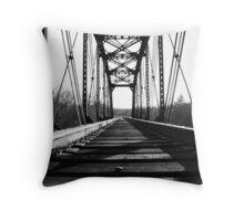 Weathered Rails - Bastrop TX Throw Pillow