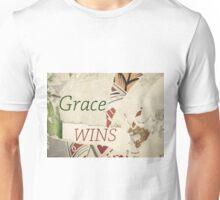 Inspirational message - Grace Wins Unisex T-Shirt
