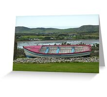 A Retired Boat Beside The Water Greeting Card