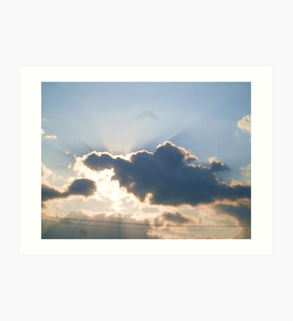 THE SILVER LINING DAY Art Print