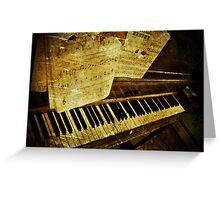 Grungy Piano Greeting Card