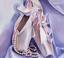 Ballet Slippers - Dancing Pearls by Irina Sztukowski