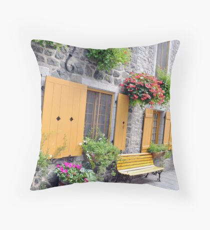 Rue de Petit Champlain Throw Pillow