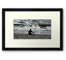 Surf Yoga Framed Print