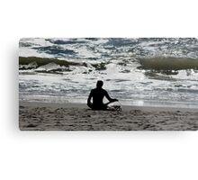 Surf Yoga Metal Print