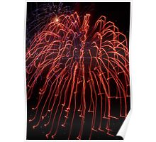 Fireworks- Venitian Festival, Charlevoix, Michigan Poster