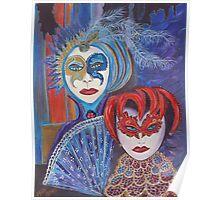 Venetian Masks Poster