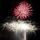 Fireworks- Venetian Festival, Carlevoix, Michigan by Melissa Delaney