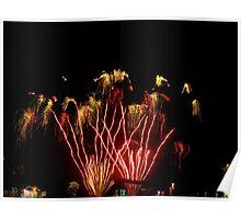 Fireworks- Venetian Festival, Charlevoix, Michigan Poster