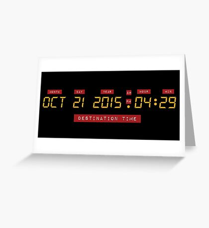 Back to the Future Oct 21, 2015 4:29 DeLorean Numbers Greeting Card