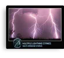 Branded: Multiple Lightning Strikes Canvas Print