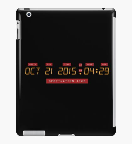Back to the Future Oct 21, 2015 4:29 DeLorean Numbers iPad Case/Skin