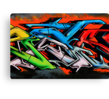 Big City Freaks Graffiti  - part 2 Canvas Print