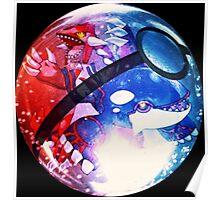 Groudon & Kyogre | Pokeball Poster