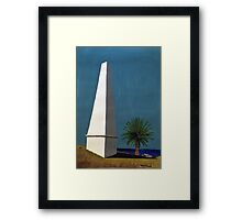 Newcastle Obelisk by Margo Humphries Framed Print