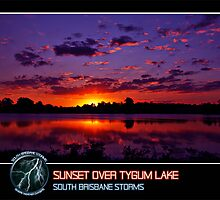 Branded: Sunset over Tygum Lake by SouthBrisStorms