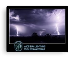 Branded: Wide Bay Lightning Canvas Print