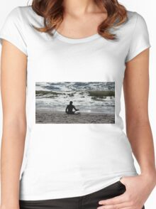 Surf Yoga Women's Fitted Scoop T-Shirt