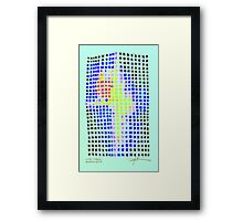 Star Fabric Framed Print