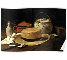 Still-Life with Yellow Straw Hat Poster