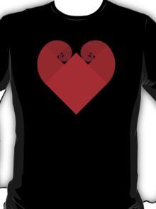 Golden Spiral Heart - No Outline T-Shirt
