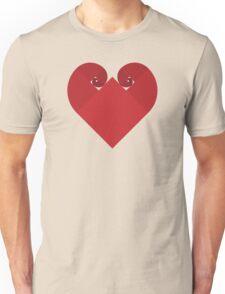 Golden Spiral Heart - No Outline Unisex T-Shirt
