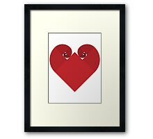 Golden Spiral Heart - No Outline Framed Print
