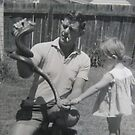 Dad & Me - An Old Photo by © Karin Taylor