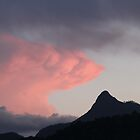 Mt.Warning (Wollumbin) at sunset. by Frandiana