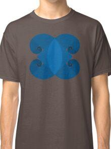 Golden Spiral 4 Arm Pattern - Blue Classic T-Shirt