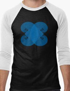 Golden Spiral 4 Arm Pattern - Blue Men's Baseball ¾ T-Shirt