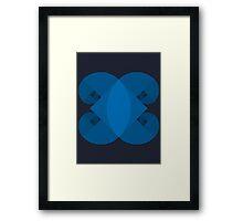 Golden Spiral 4 Arm Pattern - Blue Framed Print