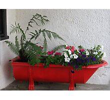 Red Bath Tub Photographic Print