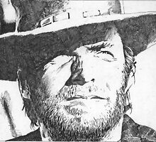 Clint Eastwood by Channa Gorokgahagoda