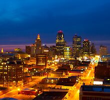 Downtown Kansas City Missouri at Night by Joseph Pollock