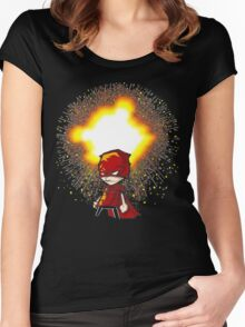 Calvin And Hobbes Superhero Women's Fitted Scoop T-Shirt