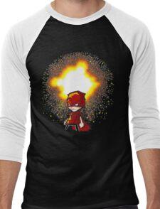 Calvin And Hobbes Superhero Men's Baseball ¾ T-Shirt