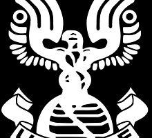 Halo Artwork - U.N.S.C.D.F. Insignia (White Logo) by Fireseed-Josh