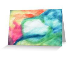 Abstract, Colors of my Dreams, watercolor Greeting Card