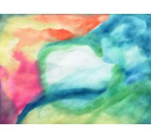 Abstract, Colors of my Dreams, watercolor Photographic Print