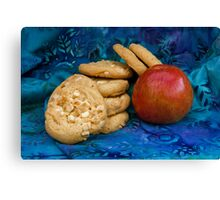 Cookies with Apple Canvas Print