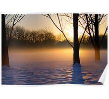 Sunrise Snowscene Poster